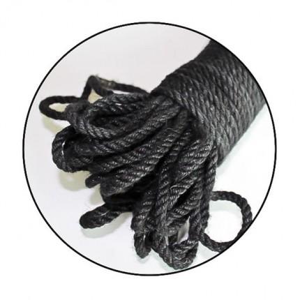 美国TOUGHAGE-麻绳(30英尺)黑(B136)