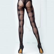 spotlight hosiery 无缝几何图形网状连裤袜