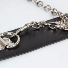 黑色铆钉捆绑束缚颈圈 男女另类调教情趣用品