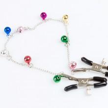 多彩铃铛男女用调情乳夹链 夫妻另类用品