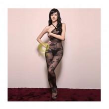 以诗萜 绝色难求真丝绣花连体网袜
