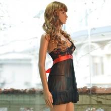 以诗萜 浓妆艳裹透明情趣裙装