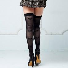 spotlight hosiery 性感甜美桃心图案长腿袜