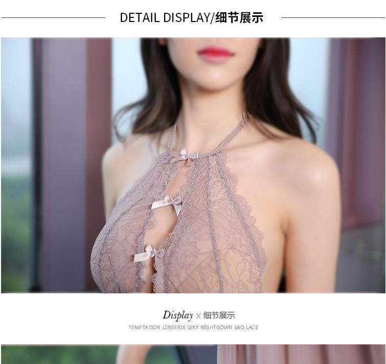 熟女气质时尚露背H版型透视性感蕾丝【透明袋包装】