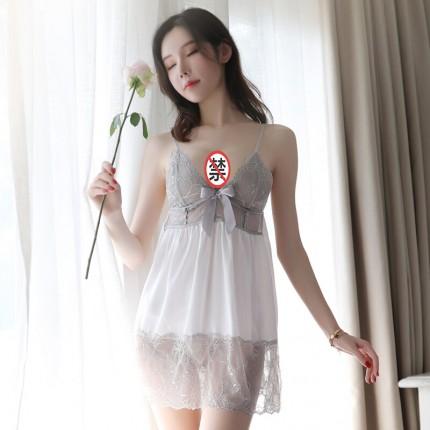 瑰若 性感蕾丝托胸深V吊带裙