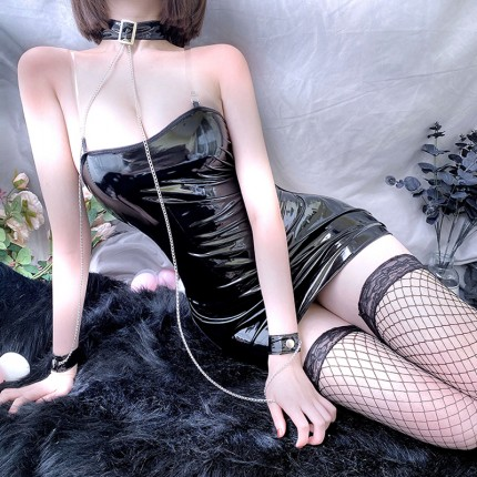柔情天使 性感链条束缚诱惑皮衣